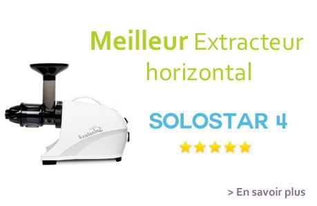 Solostar 4, le meilleur extracteur de jus horizontal